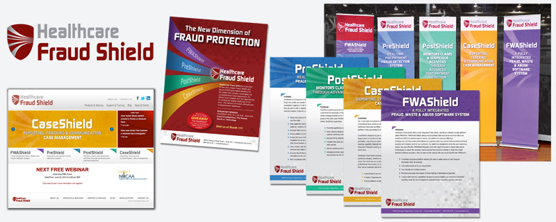 Healthcare Fraud Shield print pieces