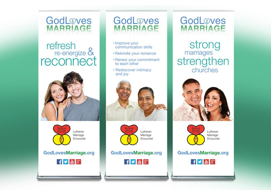 God Loves Marriage Banner Stands