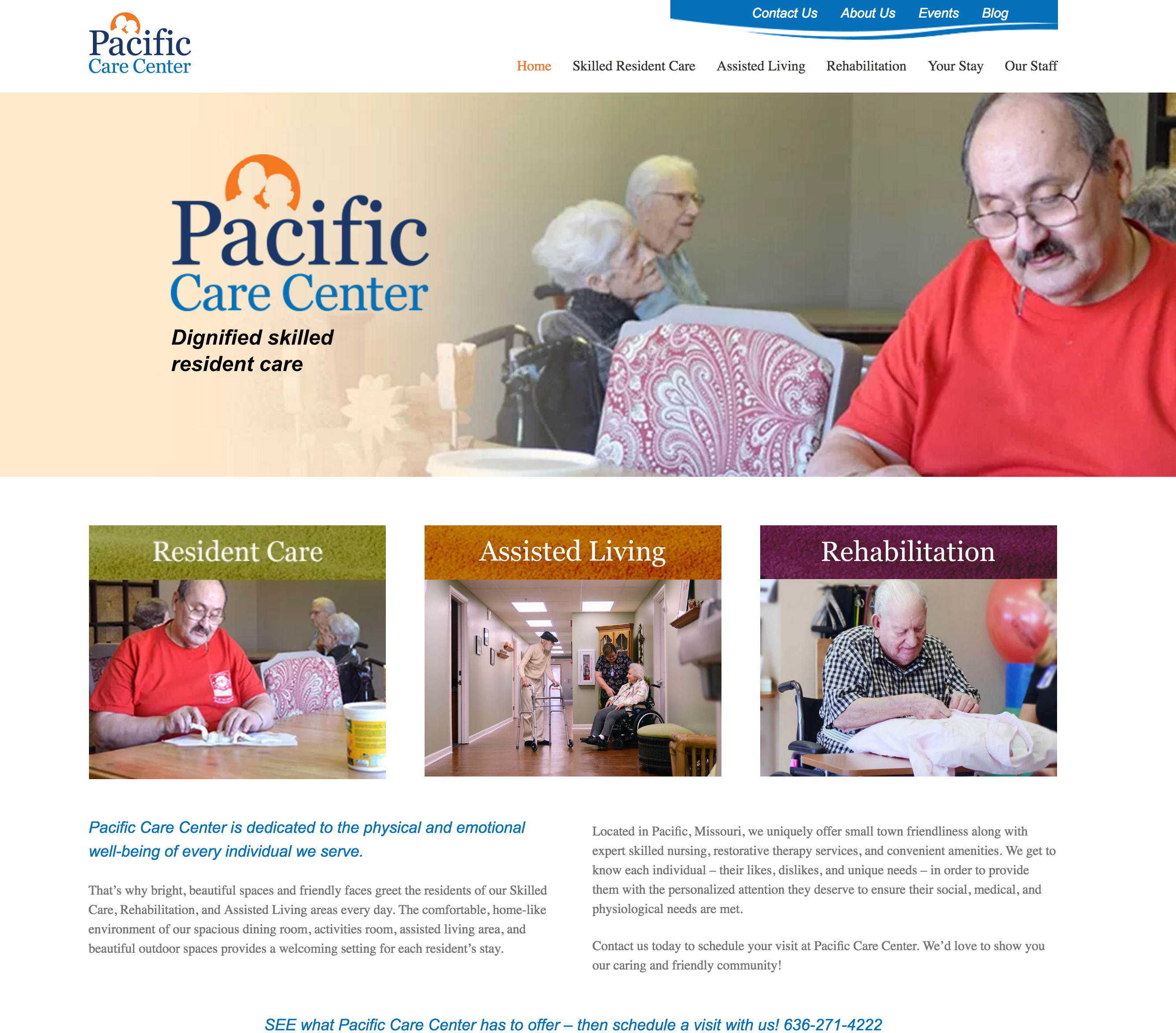 Pacific Care Center Website