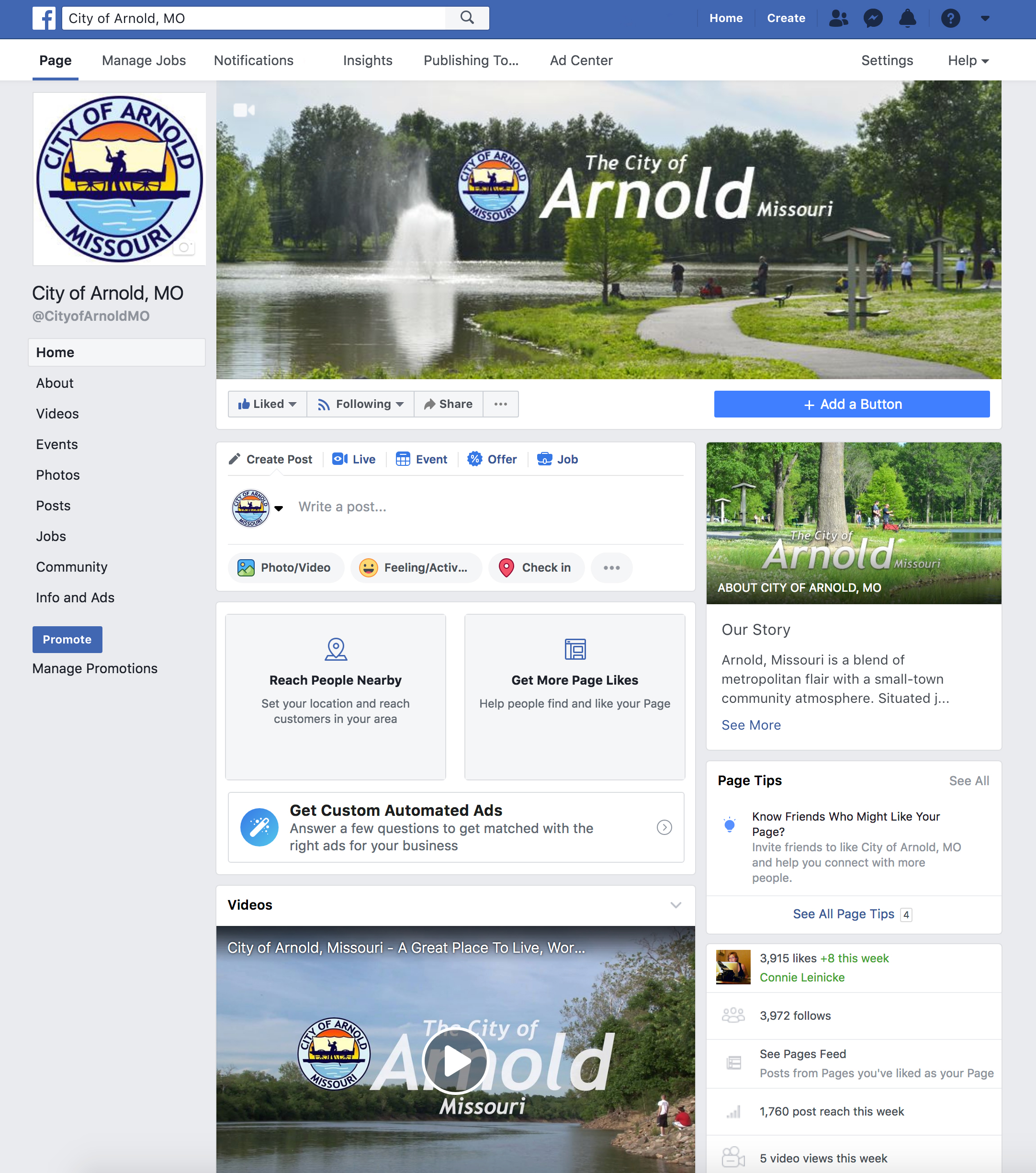 Arnold Facebook Page