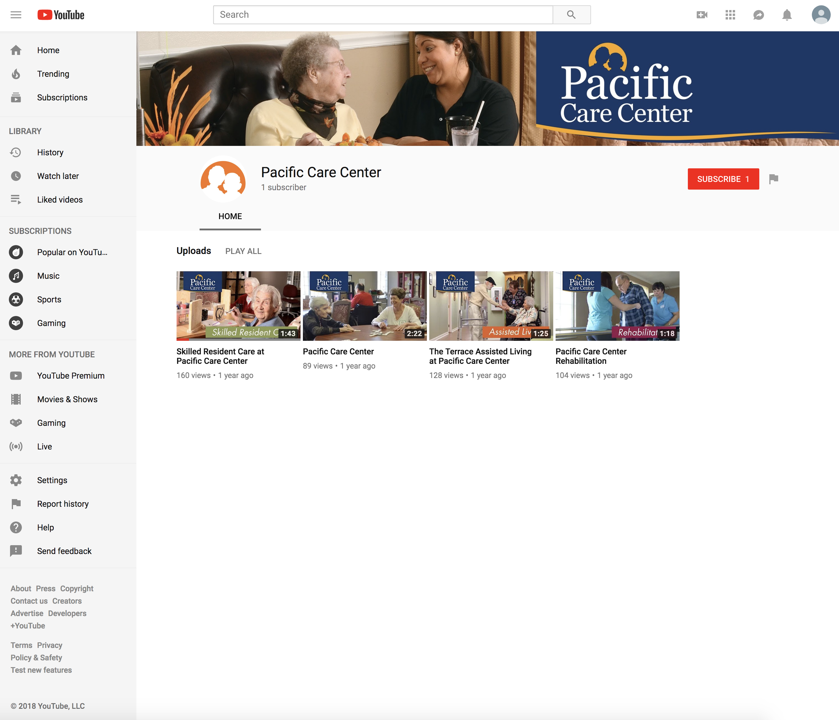 Pacific Care Center Youtube