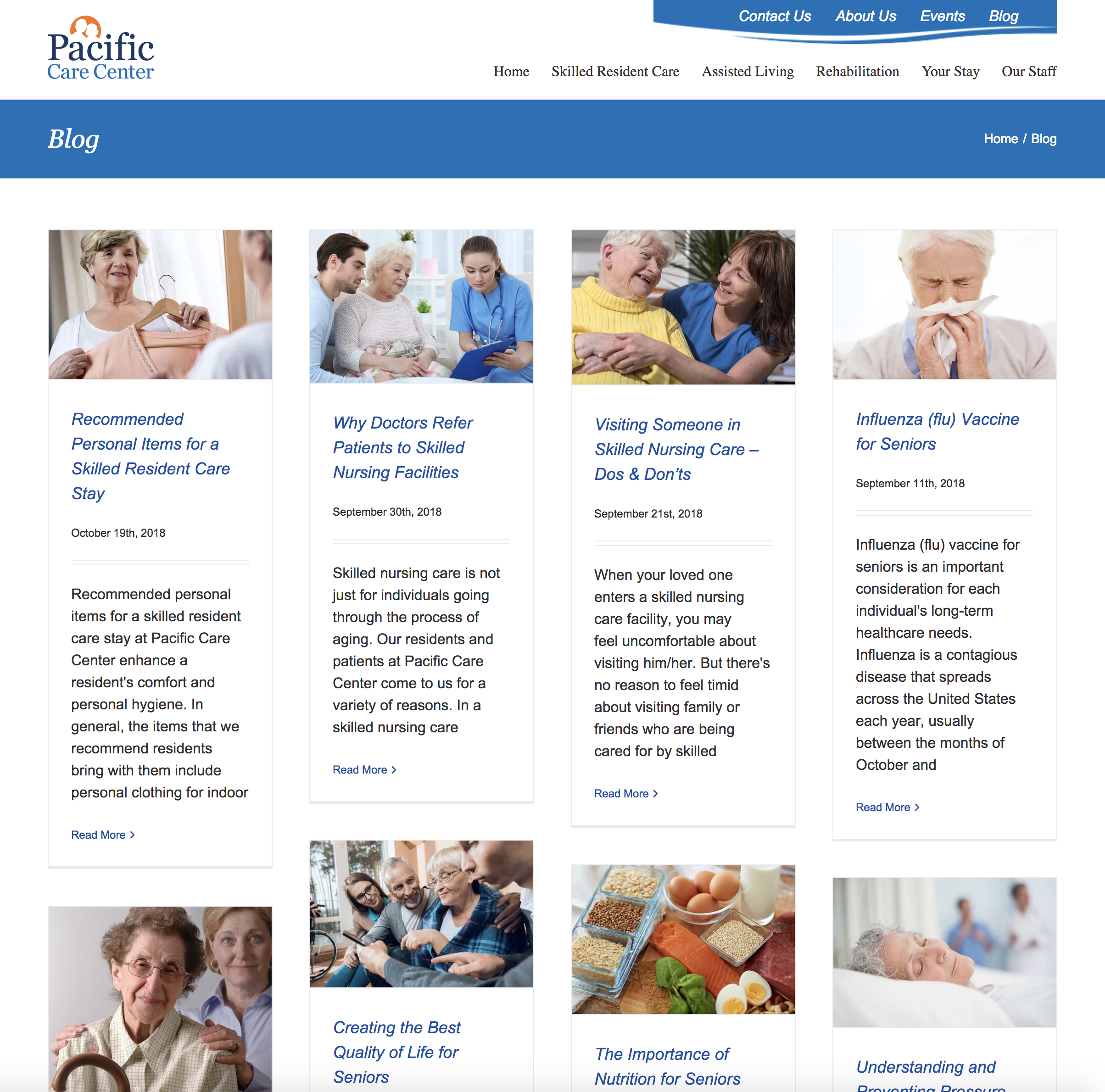 Pacific Care Center Blog